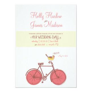 "Sweet Ride - Wedding Invitation 5.5"" X 7.5"" Invitation Card"