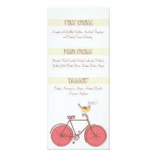 Sweet Ride Wedding Menu 10 Cm X 24 Cm Invitation Card