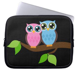 Sweet Romantic Owls Laptop Sleeve