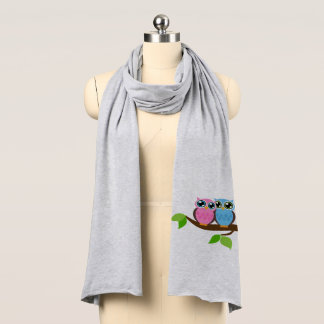 Sweet Romantic Owls Scarf