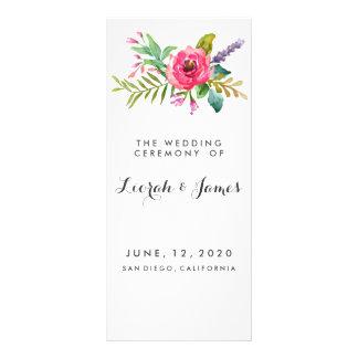 Sweet romantic watercolor flowers custom rack card