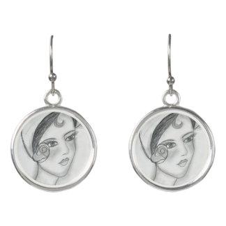 Sweet Rose Flapper Earrings