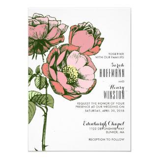 Sweet Rose Petals Wedding Invitations