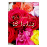 Sweet Roses 18th Birthday Photo Card