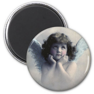 Sweet Rosy Cheeked Vintage Angel in Clouds Refrigerator Magnets