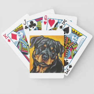 Sweet Rottweiler Bicycle Playing Cards