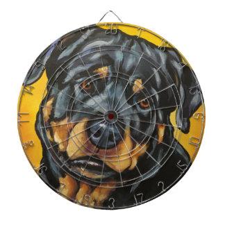 Sweet Rottweiler Dartboard With Darts