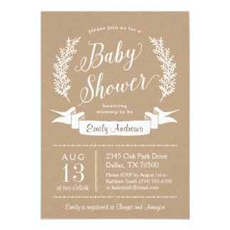 Sweet Rustic Baby Shower Invitation