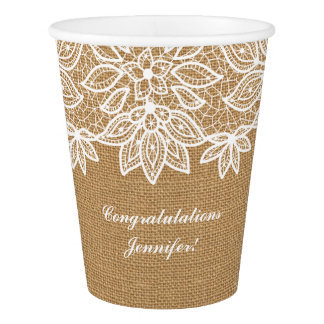 Sweet Rustic Burlap and Lace with Personalization