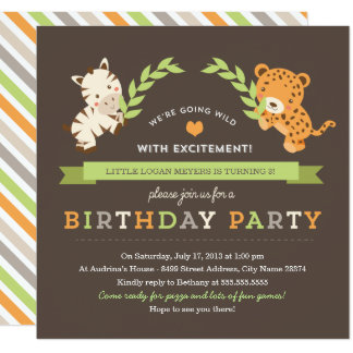Sweet Safari Birthday Party Invitation