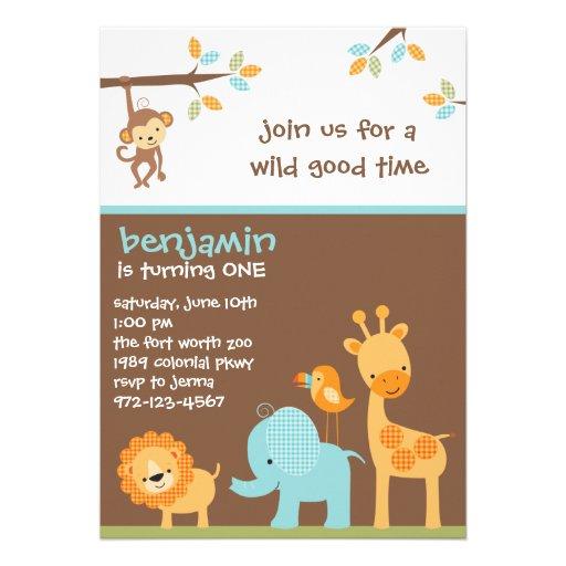 Sweet Safari Invitations Invite