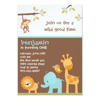 Sweet Safari Invitations