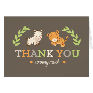Sweet Safari Thank You Cards