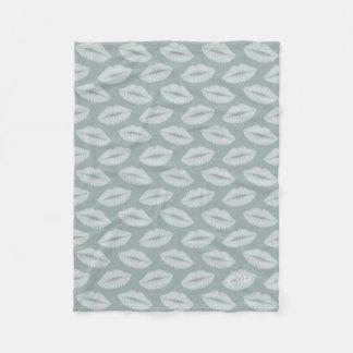 Sweet Sage Kisses Pattern Fleece Blanket