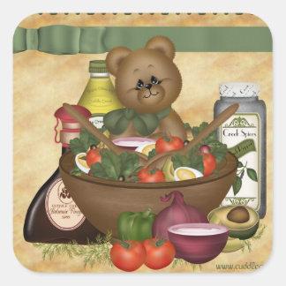 Sweet Salad Square Sticker