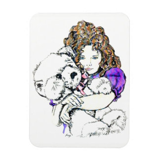 Sweet Samantha and Cuddly Teddy Magnet