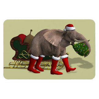 Sweet Santa Claus Elephant Magnet