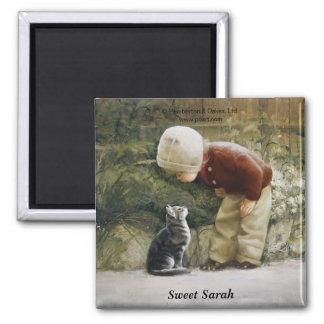Sweet Sarah Square Magnet