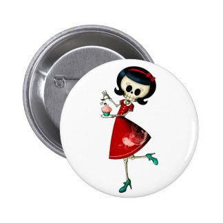 Sweet & Scary Skeleton Girl Pins