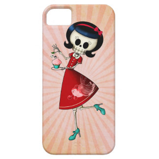 Sweet & Scary Skeleton Girl Case For The iPhone 5