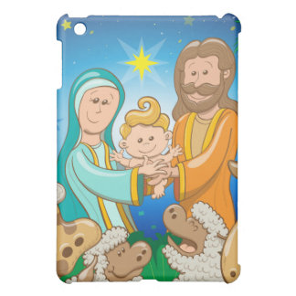 Sweet scene of the nativity of baby Jesus iPad Mini Case