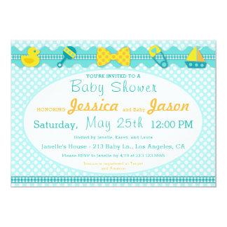 Sweet Scrapbook Boy Baby Shower Invitation