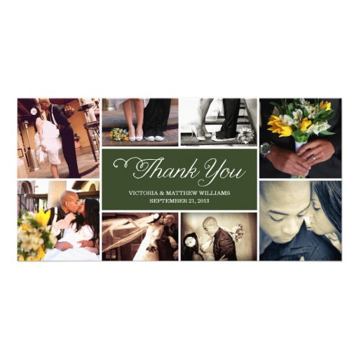SWEET SCRIPT COLLAGE | WEDDING THANK YOU CARD CUSTOM PHOTO CARD
