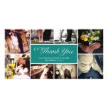 SWEET SCRIPT COLLAGE | WEDDING THANK YOU CARD PICTURE CARD