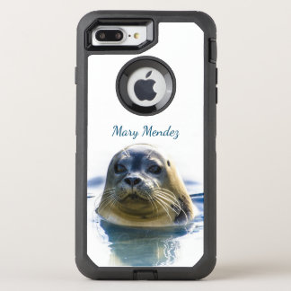 Sweet Seal Pokes His Head From Water OtterBox Defender iPhone 8 Plus/7 Plus Case