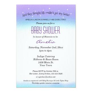 Sweet Sentiment Baby Shower Invitation