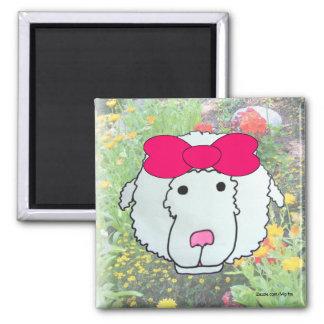 Sweet Sheep Square Magnet