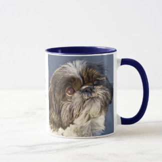 Sweet Shih Tzu Puppy Ringer Beverage Coffee Mug