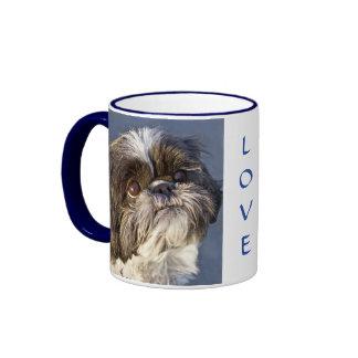 Sweet Shih Tzu Puppy Ringer Beverage Coffee Mug