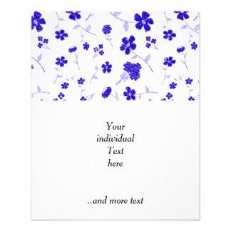 sweet shiny flora blue (I) 11.5 Cm X 14 Cm Flyer