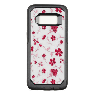 sweet shiny floral OtterBox commuter samsung galaxy s8 case