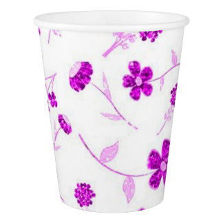 Sweet shiny floral paper cup