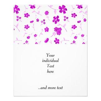 sweet shiny floral pink (I) 11.5 Cm X 14 Cm Flyer