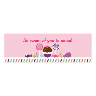 Sweet Shop Candy Goodie Bag Tags Pack Of Skinny Business Cards