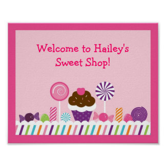 Sweet Shop Candy Nursery Wall Art Print