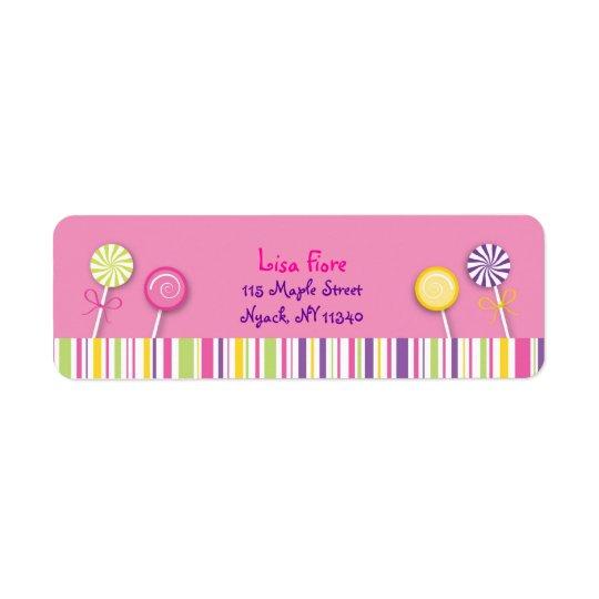 Sweet Shop Lollipop Address Labels