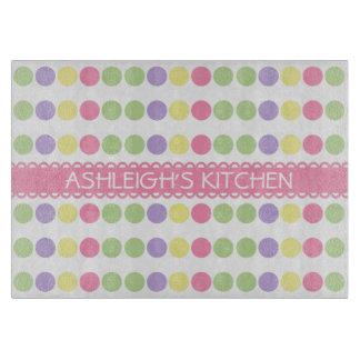 Sweet Shop Polka Dot Personalized Cutting Board