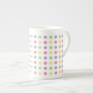 Sweet Shop Polka Dots on White Tea Cup