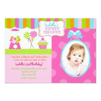 Sweet Shoppe Candy Photo Birthday Party Invitation
