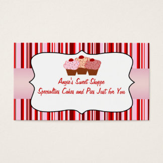 Sweet Shoppe Cupcake Business Card