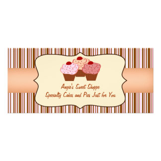 Sweet Shoppe Cupcake Business Gift Certificate 10 Cm X 23 Cm Rack Card