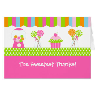 Sweet Shoppe Folded Thank You Note Cards