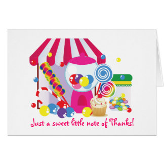 Sweet Shoppe note of thanks Card