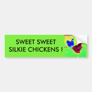 Sweet silkie chickens bumper sticker