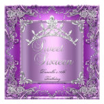 Sweet Sixteen 16 16th Birthday Party Purple Personalised Invite