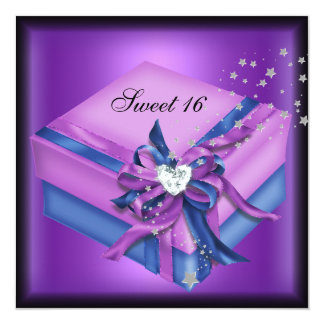 Sweet Sixteen 16 Birthday Party Gift Card